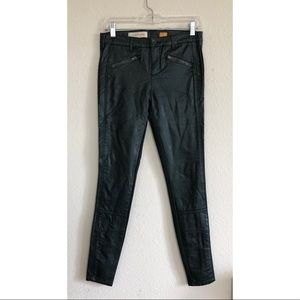 Anthropologie Pilcro Vegan Leather Skinny Pants